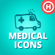 100 Hand-drawn Medical Icons - GraphicRiver Item for Sale