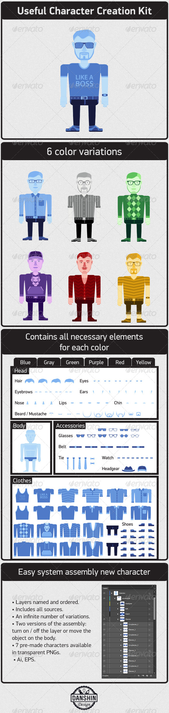 GraphicRiver Character Creation Kit 4207703