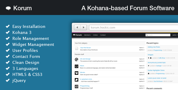 CodeCanyon Korum A Kohana-based Forum Software 4278186