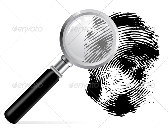 GraphicRiver Magnifier with Scaned Fingerprint 4301738