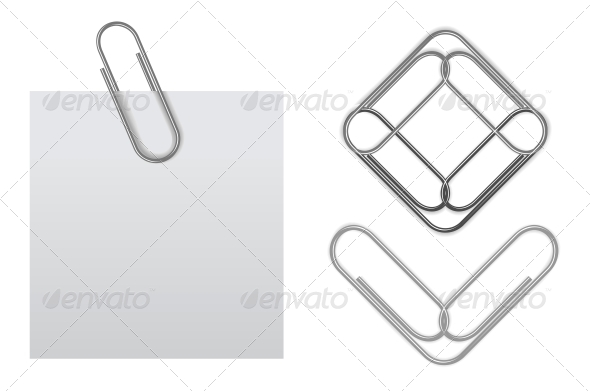 GraphicRiver Vector Sticky Note with Paper Clip 4301795