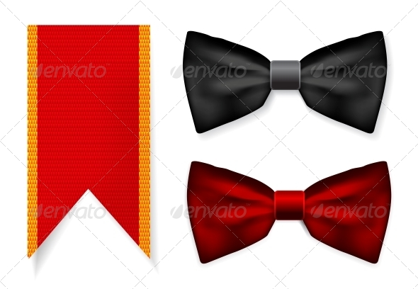 GraphicRiver Bow Tie and Red Ribbon 4301905
