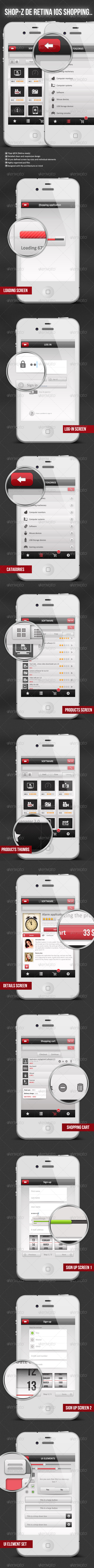 GraphicRiver Shop-Z De Retina Retina Shopping Application 4162639