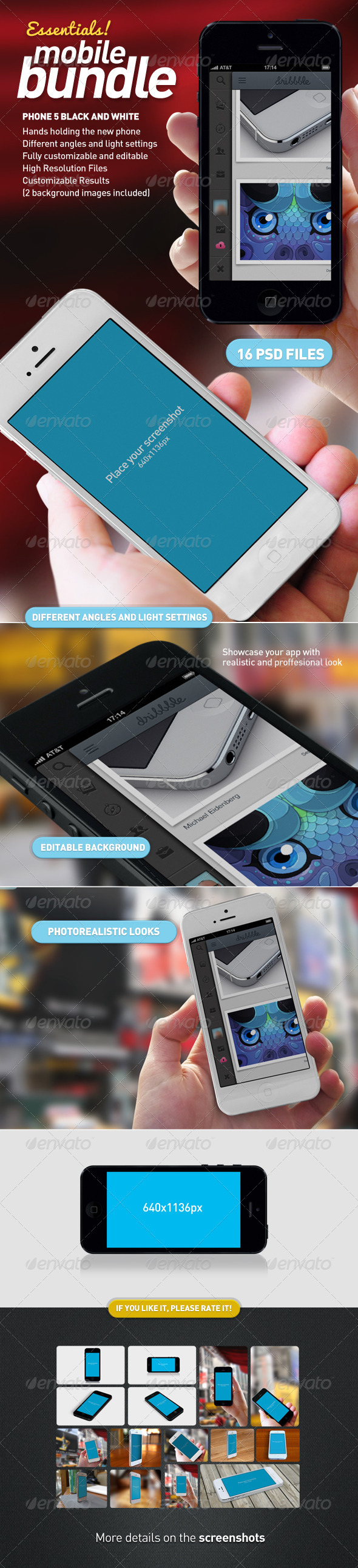 GraphicRiver Mobile App Mock-Up Essentials Bundle 4302186