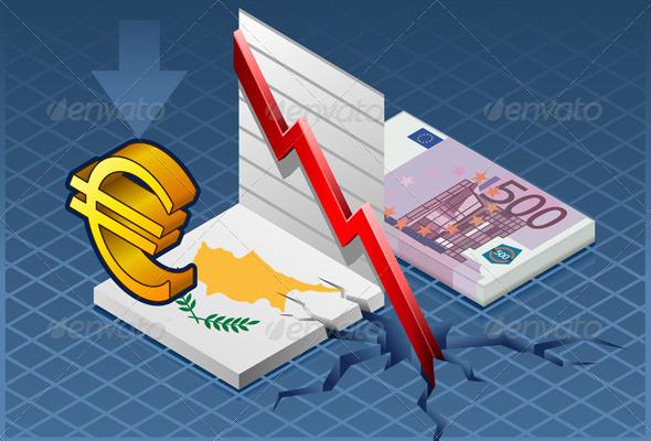 GraphicRiver Isometric Cyprus Crisis 4302497
