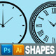 Clock Custom Shapes - GraphicRiver Item for Sale