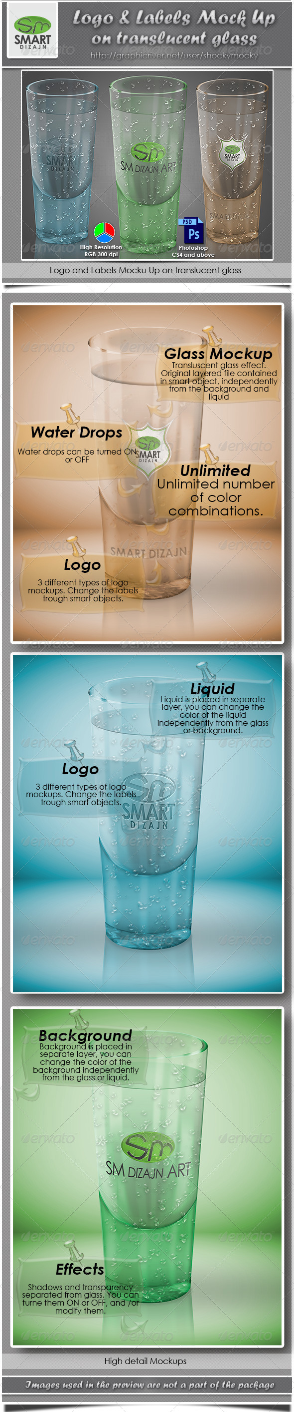 GraphicRiver Logo Mockup on Translucent Glass Object 4303178