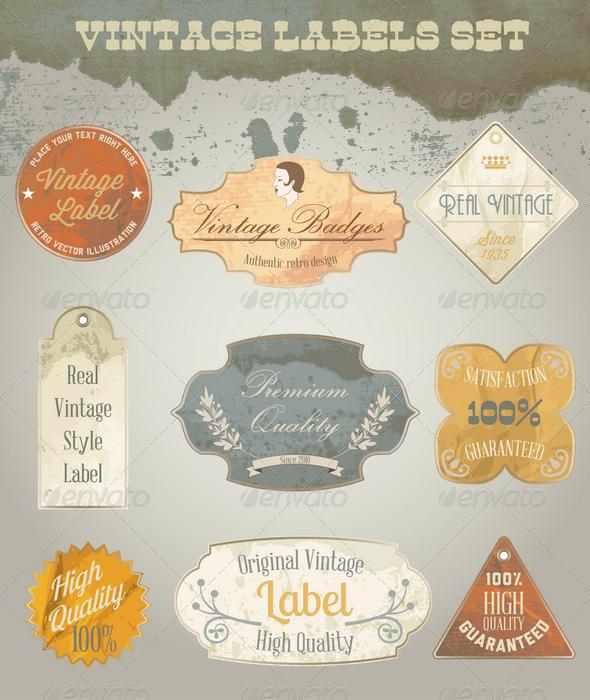 GraphicRiver Vintage Labels Set 4303454