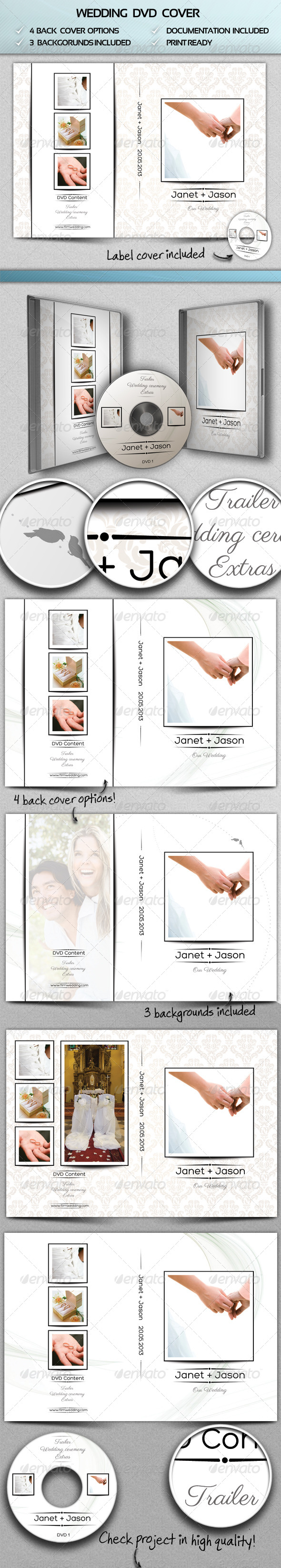 GraphicRiver Wedding DVD Cover 4303573