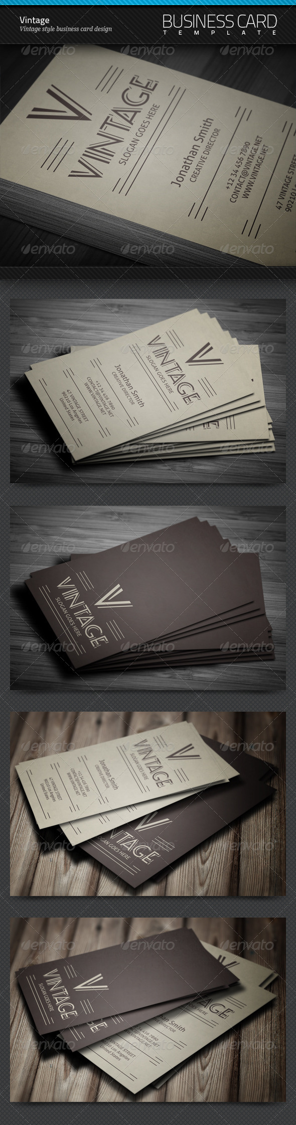 GraphicRiver Vintage Business Card 4303731