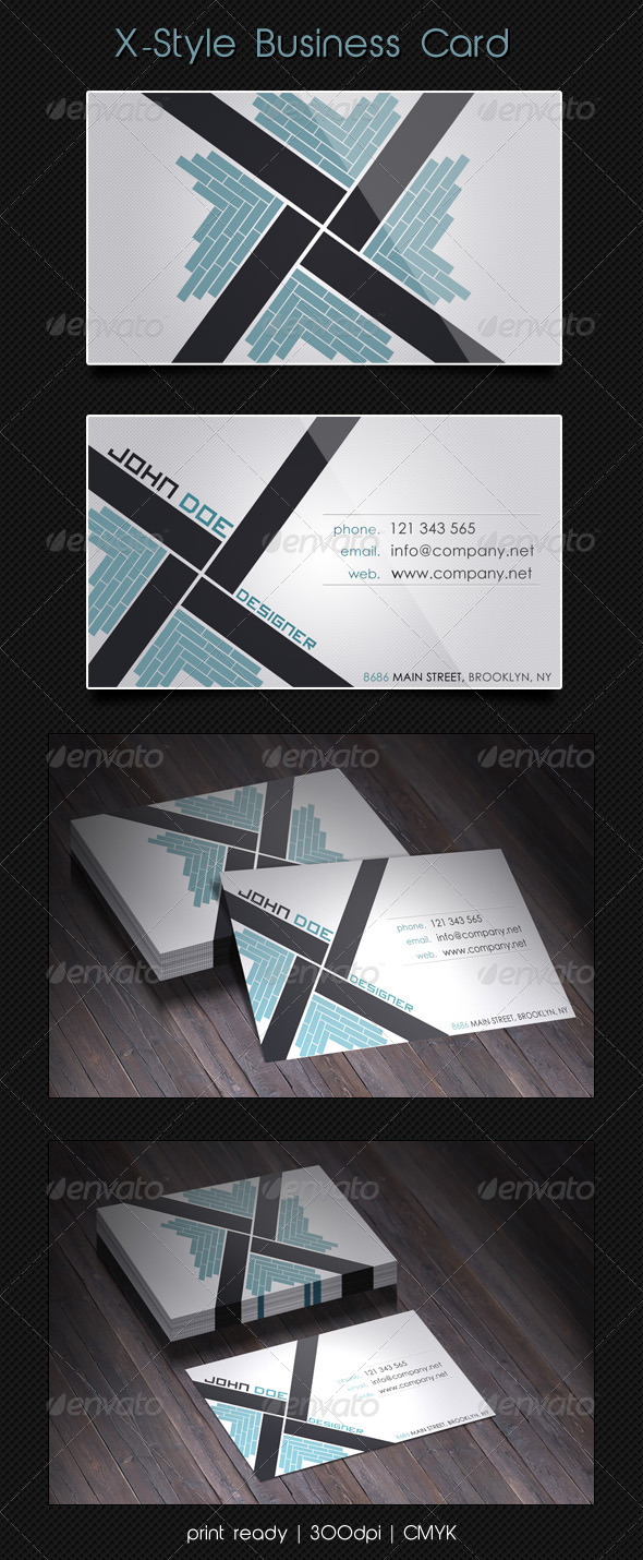 GraphicRiver X-Style Business Card 4142746
