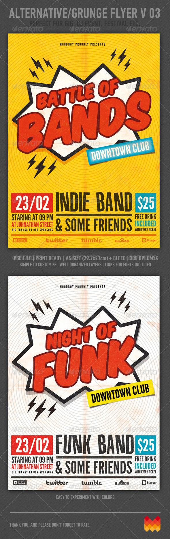 Alternative Grunge Flyer or Poster V 03
