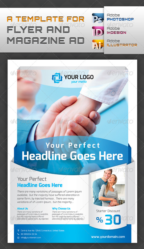GraphicRiver Template For Flyers and Magazine Ads 4304430