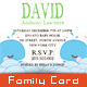 Baby Shower Invitation Card 03 - White Cloud Mail