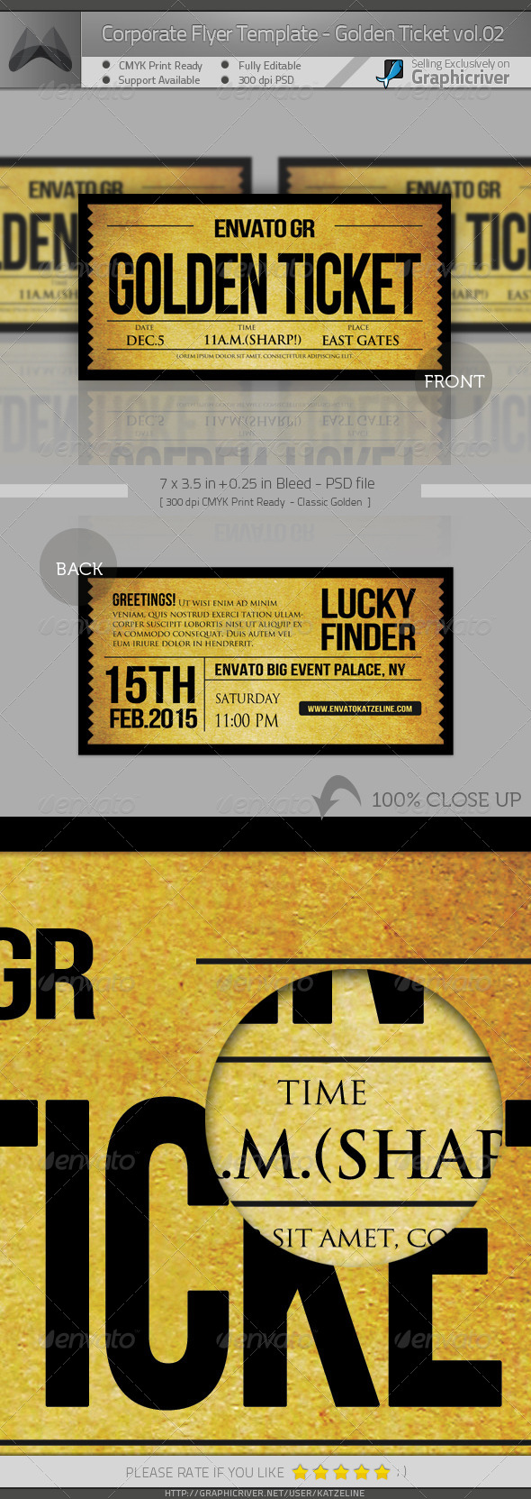 Corporate Invitation - Golden Ticket II - Invitations Cards & Invites