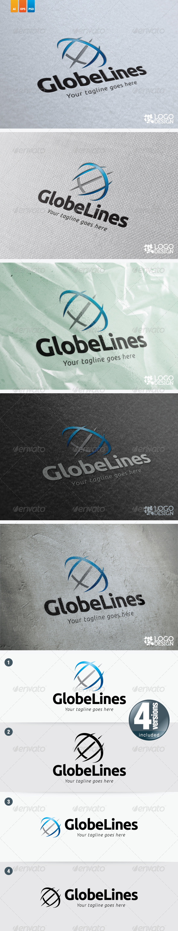 Globe Lines - Vector Abstract