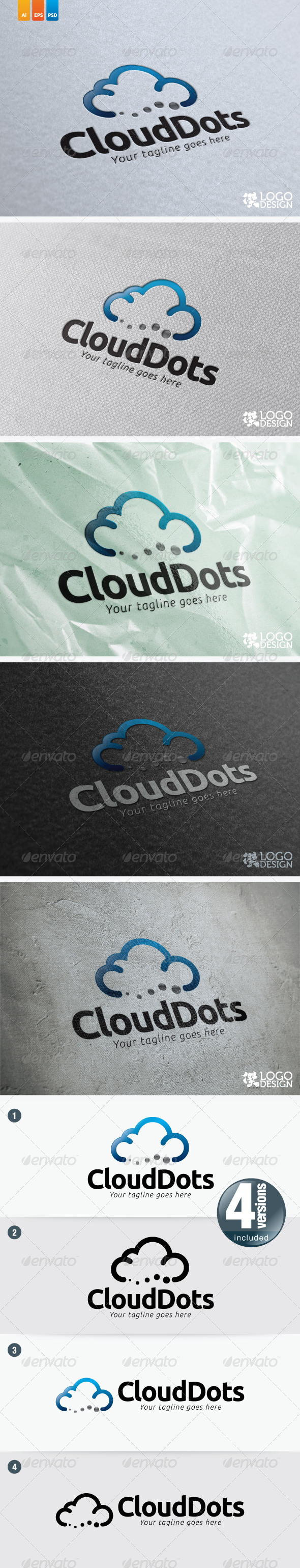 Cloud Dots - Symbols Logo Templates