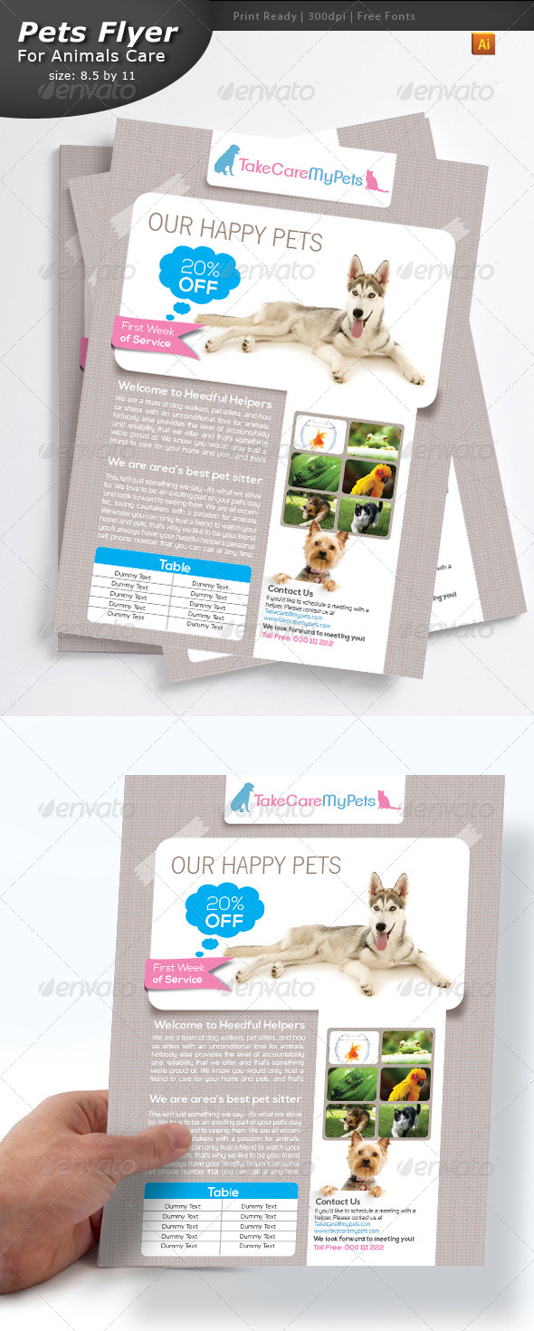 GraphicRiver Pet Services Flyer 4117931