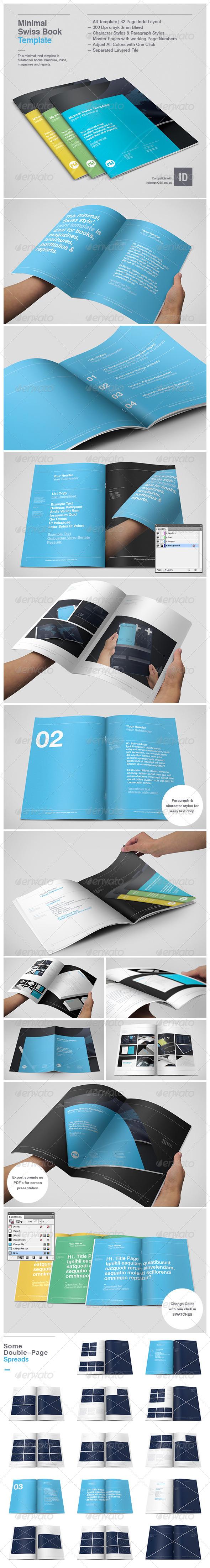 Minimal Swiss Print Template - Informational Brochures