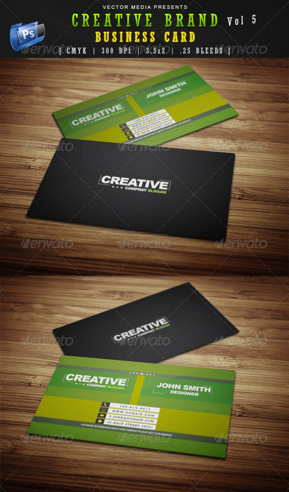 GraphicRiver Creative Brand Business Card [Vol.5] 4150519