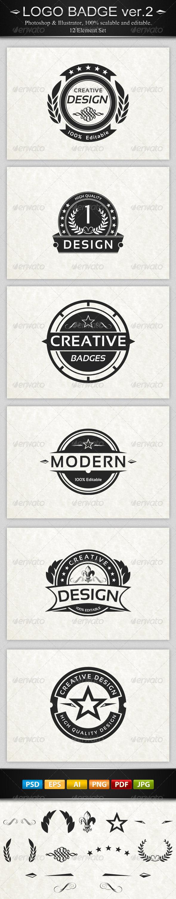 GraphicRiver 6 Vintage Logo Badges ver.2 4306523