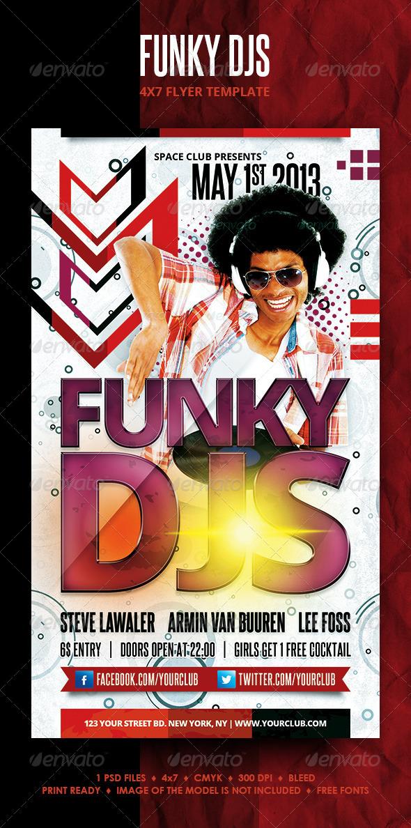 GraphicRiver Funky DJs Flyer 4306747