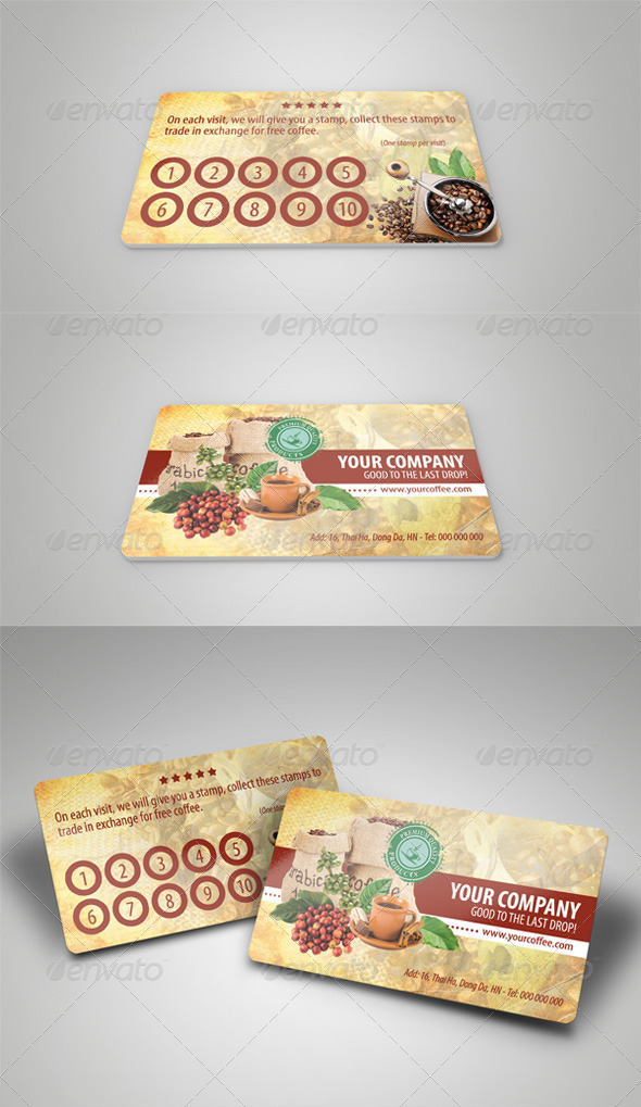 GraphicRiver Coffee Card 4132298