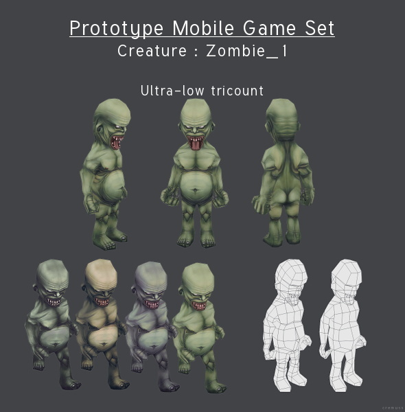 Prototype Mobile Game Set Creature Zombie 2