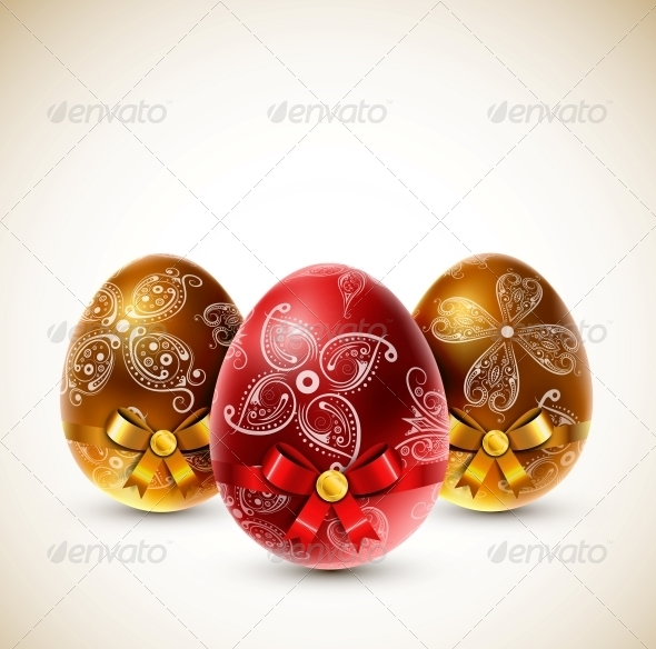 GraphicRiver Eggs with Bows 4306963
