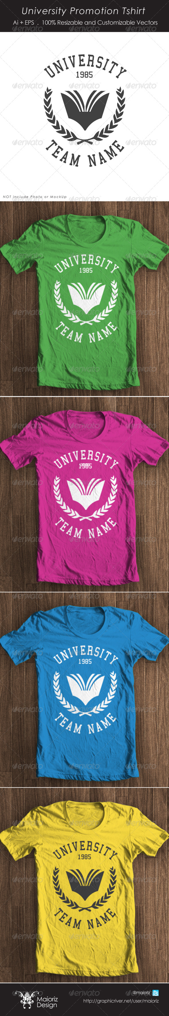 GraphicRiver University Promotion Tshirt 4307018