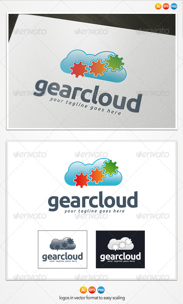 GraphicRiver Gear Cloud Logo 4208435