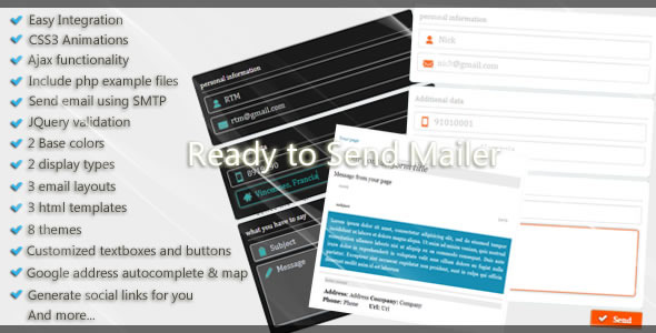 CodeCanyon Ready to Send Mailer 4307046