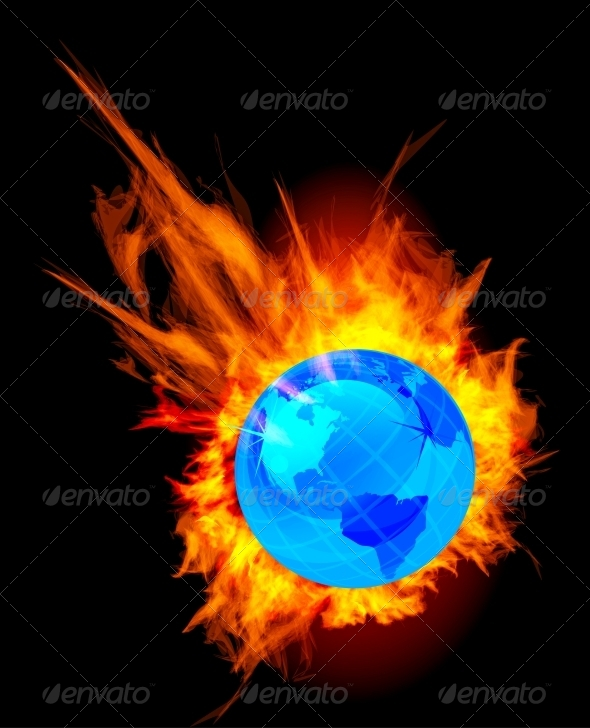 GraphicRiver Burning Globe Earth 4307464