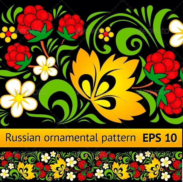 GraphicRiver Vector Floral Ornamental Pattern 4307469