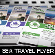 Sea Travel A4 Flyer Template V1 - GraphicRiver Item for Sale