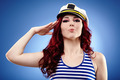 Cute female sailor saluting - PhotoDune Item for Sale