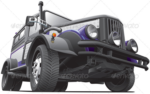 Dieselpunk Jeep - Objects Vectors