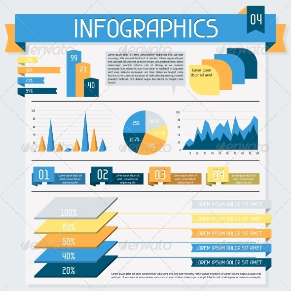 GraphicRiver Infographics Elements Collection Set 4308285