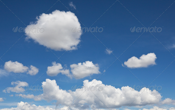 White clouds - Stock Photo - Images