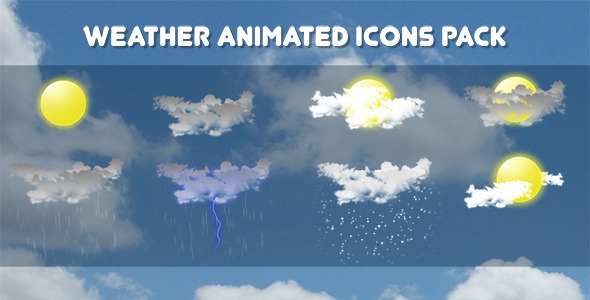 Weather Animated Icons Pack