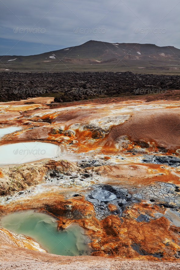 Thermal zone in Iceland - Stock Photo - Images