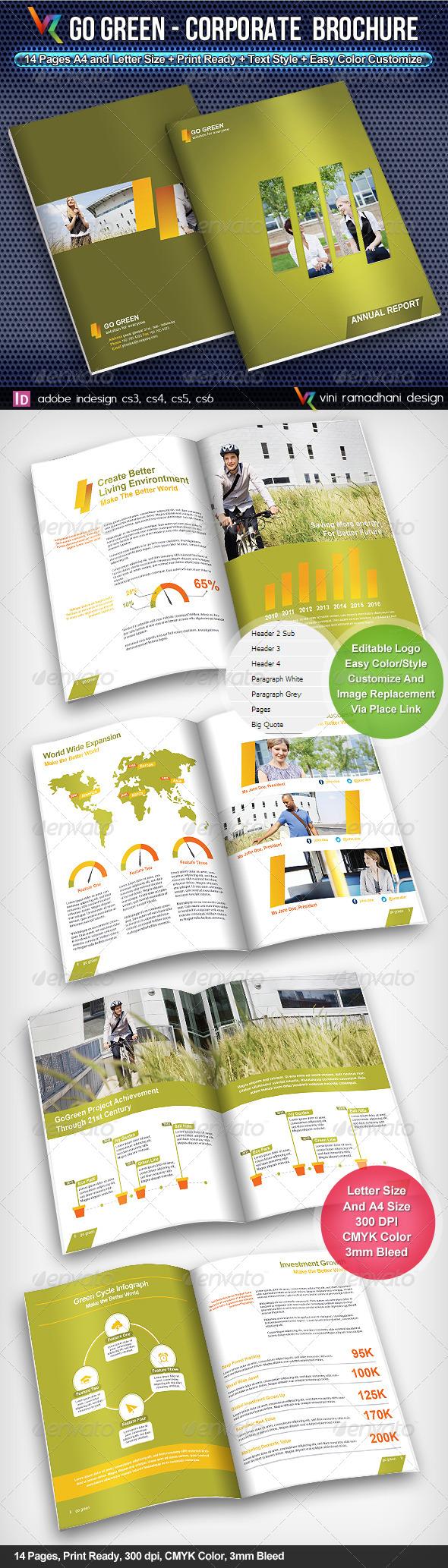 GraphicRiver GoGreen Corporate Brochure 4308632