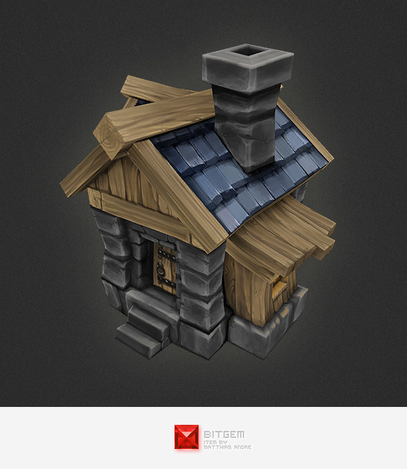 Low Poly Rts Human House By Bitgem 3docean