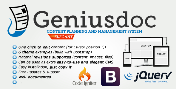 CodeCanyon GeniusDoc Content planning and management system 4308820