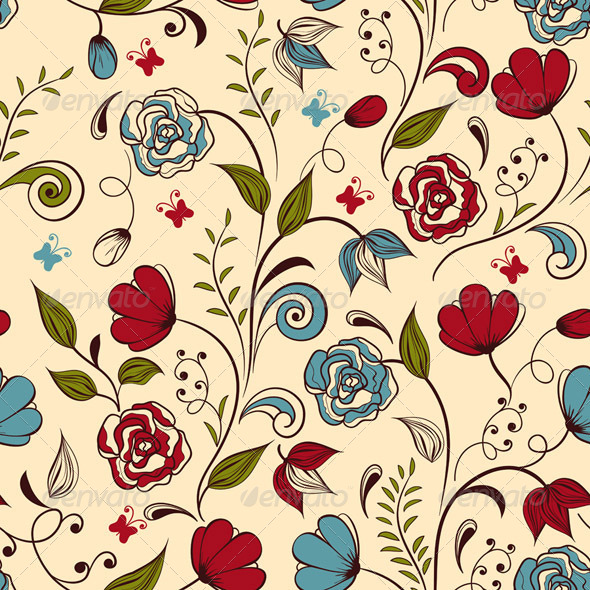 GraphicRiver Seamless Spring Pattern 4308910