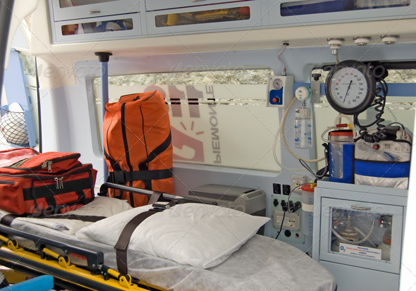 Ambulance equipment - Stock Photo - Images