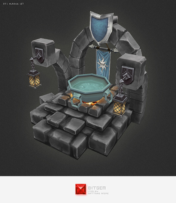 Low Poly RTS Human Oracle - 3DOcean Item for Sale