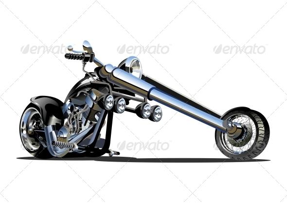 GraphicRiver Vector Cartoon Motorbike 4308948