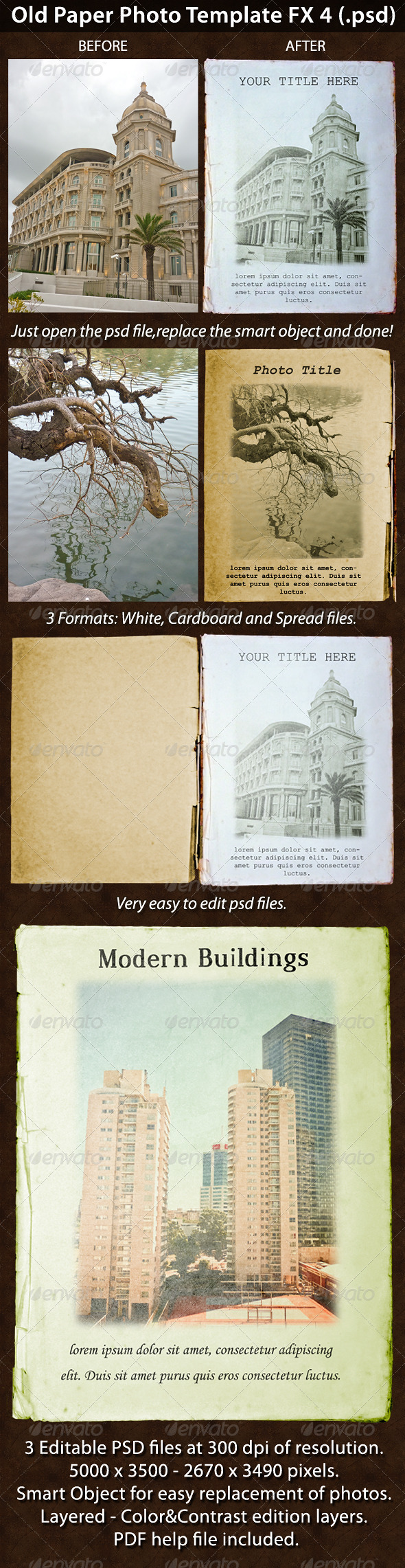 Old Paper Photo Template FX 4