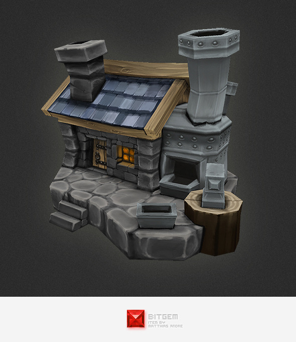 3DOcean Low Poly RTS Human Smithy 4308991